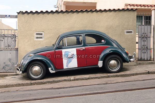 Brasilian built Volkswagen Fusca (VW Beetle). Rio de Janeiro, Espirito Santo, Brazil. --- No releases available. Automotive trademarks are the property of the trademark holder, authorization may be needed for some uses.