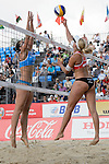 30.05.2015, Moskau, Vodny Stadion<br /> Moskau Grand Slam, Main Draw / Halbfinale<br /> <br /> Block Viktoria Orsi Toth (#2 ITA) - Angriff Marleen van Iersel (#1 NED)<br /> <br />   Foto © nordphoto / Kurth