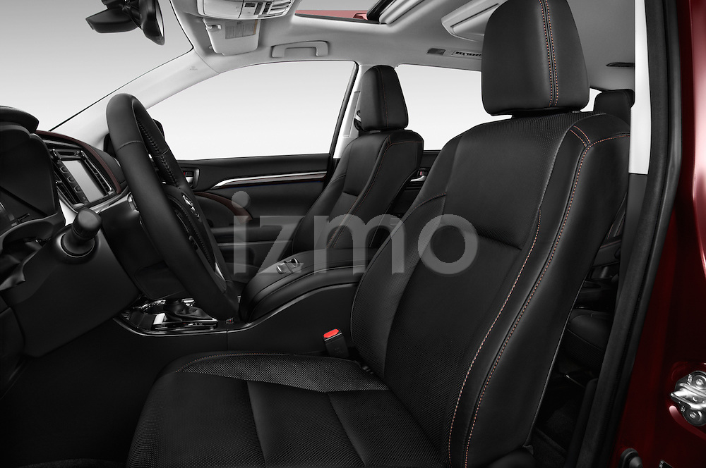 Front seat view of a 2015 Toyota Highlander Limited Hybrid 4x4 5 Door SUV Front Seat car photos