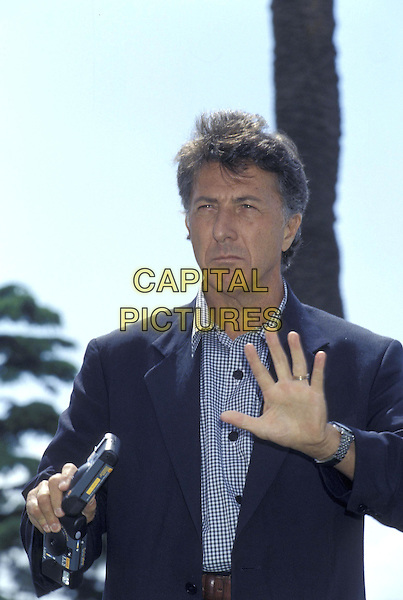 DUSTIN HOFFMAN.Cannes Film Festival.May 1996.half length half-length hand gesture wave .ref:2535.www.capitalpictures.com.sales@capitalpictures.com.©Capital Pictures