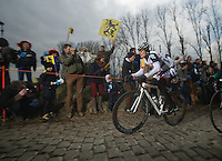 Ronde van Vlaanderen 2013..André Greipel (DEU) up the Molenberg in front o fthe race