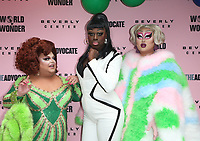 LOS ANGELES, CA - JUNE 22: Ginger Minj, Bob the Drag Queen, Kim Chi, at Beverly Center x The Advocate x World of Wonder Pride Event at The Beverly Center in Los Angeles, California on June 22, 2019. Credit: Faye Sadou/MediaPunch