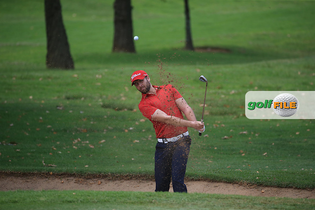 Ruaidhri McGee (IRL) finds the bunker on the 3rd on the West Course during Round 2 of the 2016 Joburg Open Celebrating 10 years, played at the Royal Johannesburg and Kensington Golf Club, Gauteng, Johannesburg, South Africa.  15/01/2016. Picture: Golffile | David Lloyd<br /> <br /> All photos usage must carry mandatory copyright credit (&copy; Golffile | David Lloyd)