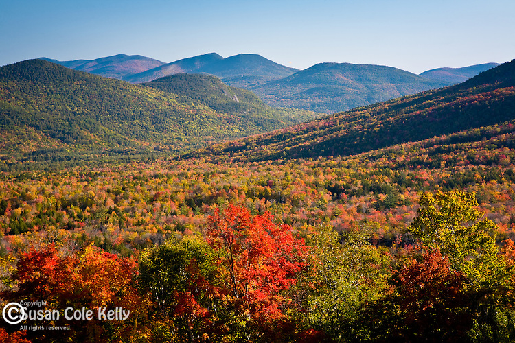 Autumn view of the White Mountains from Bear Notch, White Mountain National Forest, NH, USA