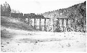 Engineer side view of K-27 #455 taking a freight across bridge 22-A.<br /> RGS  near Brown, CO  Taken by Schick, Joe - 8/30/1960