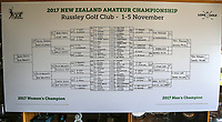 The road to the finals during the New Zealand Amateur Golf Championship at Russley Golf Course, Christchurch, New Zealand. Sunday 5 November 2017. Photo: Simon Watts/www.bwmedia.co.nz
