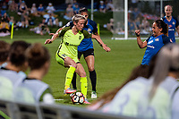 Kansas City, MO - Saturday June 17, 2017: Megan Rapinoe, Brittany Taylor during a regular season National Women's Soccer League (NWSL) match between FC Kansas City and the Seattle Reign FC at Children's Mercy Victory Field.