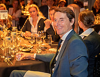 The Hague, The Netherlands, Februari 5, 2020,    Penthouse, FedCup  Netherlands -  Balarus, Official Dinner,  Dutch Captain Paul Haarhuis enjoying himself<br /> Photo: Tennisimages/Henk Koster