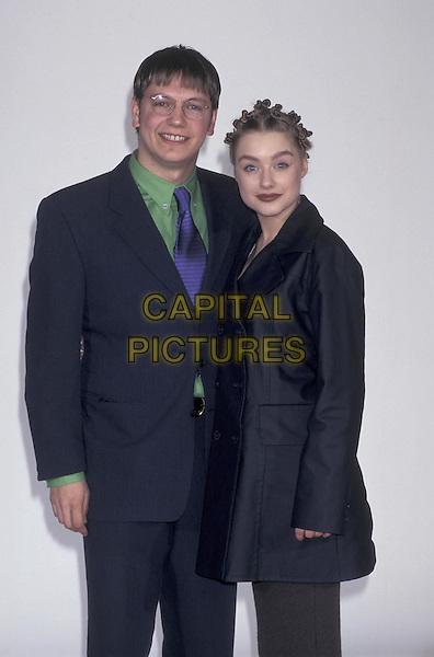MARK HOMER & DANIELLA DENBY ASHE.12 March 1997.half length half-length funny hair .ref:4715.www.capitalpictures.com.sales@capitalpictures.com.©Capital Pictures