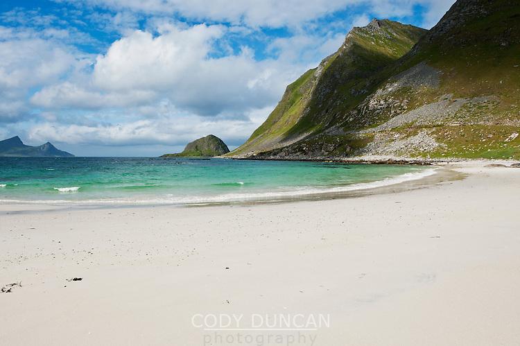 Haukland Beach, Vestvågøy, Lofoten islands, Norway