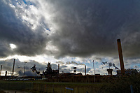Pictured: The blast furnaces of the steel works in Port Talbot, Wales, UK. Monday 29 January 2018<br /> Re: Some of the Port Talbot steel workers' pensions are under threat after being persuaded to change providers.