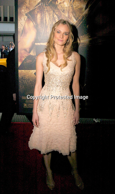 "Diane Kruger ..at The US Premiere of ""Troy"" on May 10, 2004 at The Ziegfeld Theatre. Photo by Robin Platzer, Twin Images"