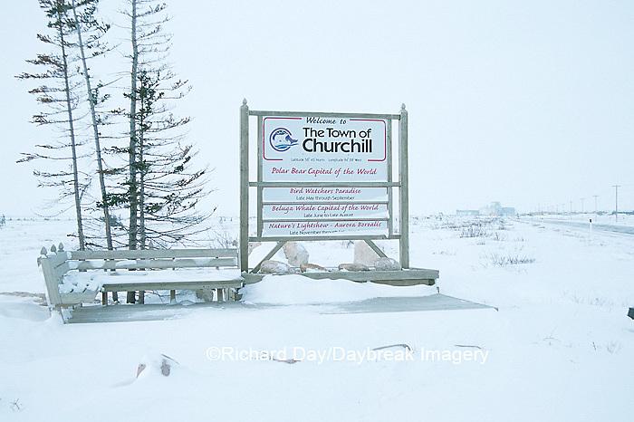 60595-003.06  Town of Churchill sign  Churchill, MB
