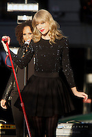 NEW YORK, NY - OCTOBER 23: Taylor Swift performs during the Good Morning America Concert Series in front of the Good Morning America Time Square studio in New York City. October 23, 2012. Credit: RW/MediaPunch Inc. /NortePhoto