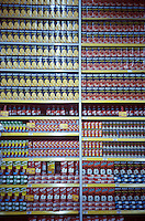 well stocked shelves at a carrefour supermarket in Polanco, Mexico City