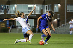 16 October 2015: North Carolina's Summer Green (6) challenges Duke's Chelsea Burns (2). The University of North Carolina Tar Heels hosted the Duke University Blue Devils at Fetzer Field in Chapel Hill, NC in a 2015 NCAA Division I Women's Soccer game. Duke won the game 1-0.