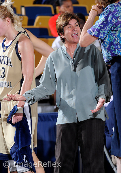Florida International University women's basketball head coach Cindy Russo during the game against the University of South Alabama which won the game 65-47 on December 20, 2008 at Miami, Florida. .
