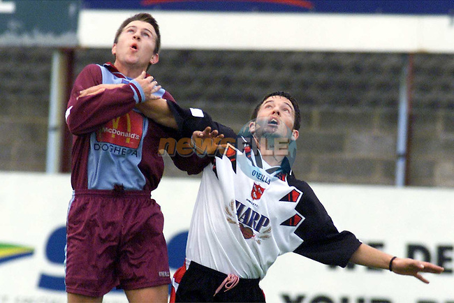 Action from Drogheda V Dundalk in United Park..Picture Paul Mohan Newsfile