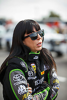 Feb 26, 2017; Chandler, AZ, USA; NHRA funny car driver Alexis DeJoria during the Arizona Nationals at Wild Horse Pass Motorsports Park. Mandatory Credit: Mark J. Rebilas-USA TODAY Sports