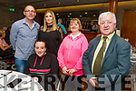 Leah, John and Mairead Hickey with Grace and Pat Mahoney attending the Irish Wheelchair Association Summer party in the Ballyroe Heights Hotel on Sunday