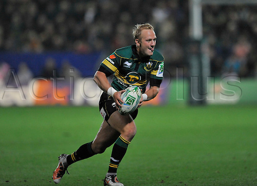 08.10.2010. Shane Geraghty of Northampton Saints in action. Rugby Union Heineken Cup Round 1 at  Franklin's Gardens, Northampton, England. Northampton Saints vs Castres Olympique