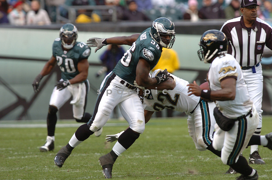 SHAWN BARBER of the Philadelphia Eagles  in action against the Jacksonville Jaguars on October 29, 2006 in Philadelphia PA...Jaguars win 13-6..Tomasso DeRosa / SportPics