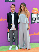 Hailey Langland &amp; Guest at Nickelodeon's Kids' Choice Sports 2017 at UCLA's Pauley Pavilion. Los Angeles, USA 13 July  2017<br /> Picture: Paul Smith/Featureflash/SilverHub 0208 004 5359 sales@silverhubmedia.com