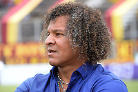 IBAGUE -COLOMBIA, 31-ENERO-2015. Alberto Gamero director tecnico  del Deportes Tolima  en accion contra el  Chico F.C. durante la primera fecha de La Liga Aguila jugado en el estadio Manuel Murillo Toro de la ciudad de Ibague. /  Alberto Gamero coach  of Deportes Tolima  in actions  against   of Chico F.C. during the first round of La Liga Aguila played at Manuel Murillo Toro   stadium in Ibague city. Photo / VizzorImage /  Juan Carlos Escobar / Stringer