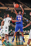 Texas Arlington Mavericks forward Desherra Nwanguma (44) in action during the game between the Texas Arlington Mavericks and the North Texas Mean Green at the Super Pit arena in Denton, Texas. UTA defeats UNT 59 to 50...
