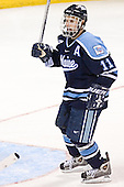 Michel Leveille - The University of Wisconsin Badgers defeated the University of Maine Black Bears 5-2 in their 2006 Frozen Four Semi-Final meeting on Thursday, April 6, 2006, at the Bradley Center in Milwaukee, Wisconsin.  Wisconsin would go on to win the Title on April 8, 2006.