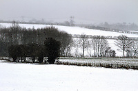 Hertfordshire - Snow scenes in Hertfordshire. Pictured - View towards Hitchin - January 18th 2012..Photo by Keith Mayhew