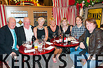 Family Friends Christmas Party:  Family friends on their Christmas party at Behan's Horseshoe bar & Restaurant, Listowel on Saturday night last > L-R : Mick Devaney, John & Noreen McAuliffe, Ann Devaney, Siobhan Devaney, Tommy Gleeson & Brian Devaney.