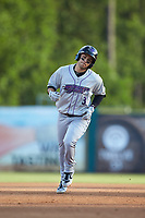 Nick Madrigal (3) of the Winston-Salem Dash rounds the bases after hitting a home run against the Myrtle Beach Pelicans at TicketReturn.com Field on May 16, 2019 in Myrtle Beach, South Carolina. The Dash defeated the Pelicans 6-0. (Brian Westerholt/Four Seam Images)