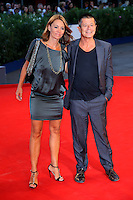 Emmanuel Carrere, right, and Helene Devynck attend the red carpet for the premiere of the movie 'Remember' during the 72nd Venice Film Festival at the Palazzo Del Cinema in Venice, Italy, September 10, 2015.<br /> UPDATE IMAGES PRESS/Stephen Richie