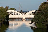 Historic Anahulu Stream Bridge in Haleiwa, Oahu, Hawaii