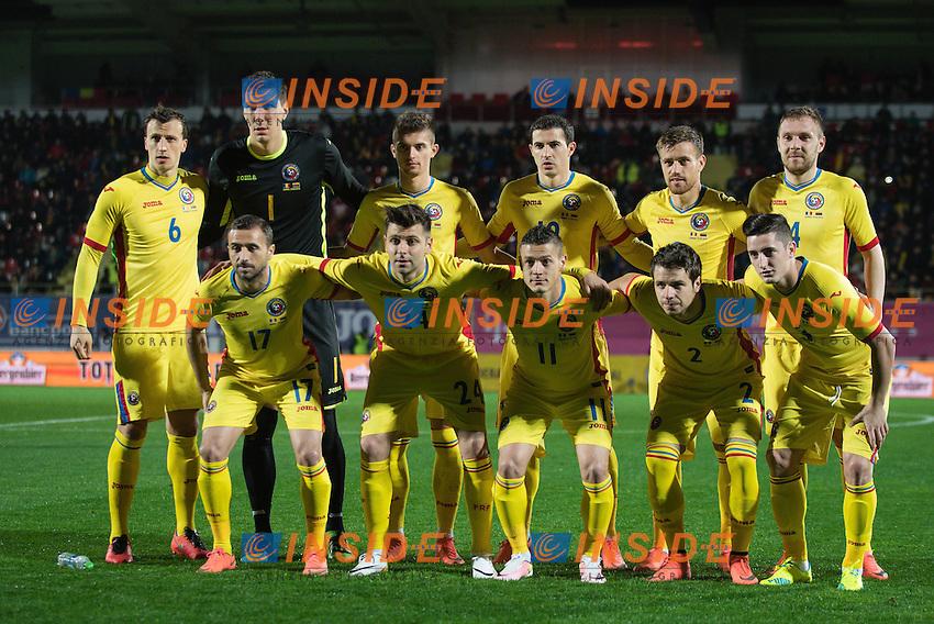 Formazione ROMANIA <br /> Football friendly game MAR 2016 March 23, 2016: Romanian team during the friendly game at Marin Anastasovici Stadium in Giurgiu, Romania ROU.<br /> <br /> Foto Insidefoto