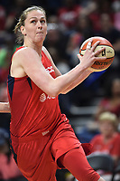 Washington, DC - June 1, 2019: Washington Mystics center Emma Meesseman (33) drives to the basket during game between Atlanta Dream and Washington Mystics at the St. Elizabeths East Entertainment and Sports Arena (Photo by Phil Peters/Media Images International)