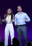 Samantah Barks and Andy Karl during the Curtain Call for the Garry Marshall Tribute Performance of 'Pretty Woman:The Musical' at the Nederlander Theatre on August 2, 2018 in New York City.