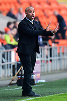 Grimsby Town manager Marcus Bignot  reacts<br /> <br /> Photographer Richard Martin-Roberts/CameraSport<br /> <br /> The EFL Sky Bet League Two - Blackpool v Grimsby Town - Saturday 8th April 2017 - Bloomfield Road - Blackpool<br /> <br /> World Copyright &copy; 2017 CameraSport. All rights reserved. 43 Linden Ave. Countesthorpe. Leicester. England. LE8 5PG - Tel: +44 (0) 116 277 4147 - admin@camerasport.com - www.camerasport.com