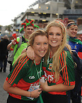 Katie and Sophie Byrne from Castlebar at the All Ireland final replay.<br />Pic Conor McKeown