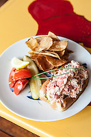 Lobster Roll at The Ramp Bar & Grill, Cape Porpoise Harbor, Kennebunkport, ME. Images are available for editorial licensing, either directly or through Gallery Stock. Some images are available for commercial licensing. Please contact lisa@lisacorsonphotography.com for more information.