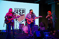 Performers entertain fans attending a U.S. Soccer Sunday Kick-off Series Event at Nashville Underground on Sunday, September 9, 2018 in Nashville, TN.