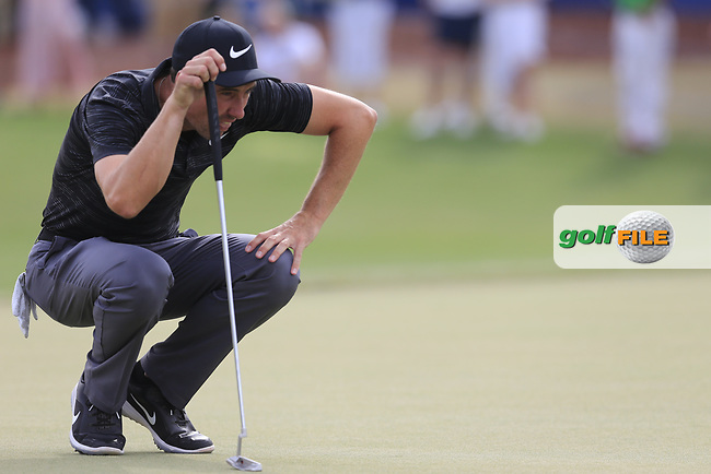 Ross Fisher (ENG) on the 18th green during the 3rd round of the DP World Tour Championship, Jumeirah Golf Estates, Dubai, United Arab Emirates. 17/11/2018<br /> Picture: Golffile | Fran Caffrey<br /> <br /> <br /> All photo usage must carry mandatory copyright credit (&copy; Golffile | Fran Caffrey)