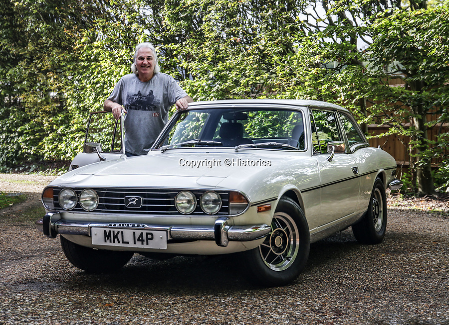 BNPS.co.uk (01202 558833)<br /> Pic: Historics/BNPS<br /> <br /> Rollin' back the years...the immaculate motor was bought as a birthday present for the ex footballer in 2012.<br /> <br /> A classic sports car belonging to former England international footballer Gerry Francis has emerged for sale for £20,000.<br /> <br /> The 1976 Triumph Stag has been with Francis since 2012 when it was given to him as a surprise gift from his son.<br /> <br /> It is identical to another motor the ex QPR midfielder owned during the height of his playing career in the 1970s.