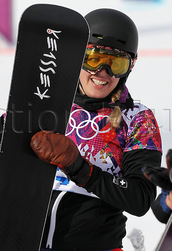 19.02.2014. Sochi, Russia.  Rosa Khutor   Sochi Winter Olympic Wiomens Giant Parallel Slalom Snowboarding.  Patrizia Kummer (SUI)