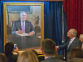 United States Senate Minority Leader Harry Reid (Democrat of Nevada) looks at the portrait after it was unveiled during the ceremony where the official portrait of is to be unveiled in the Kennedy Caucus Room on Capitol Hill in Washington, DC on Thursday, December 8, 2016.<br /> Credit: Ron Sachs / CNP