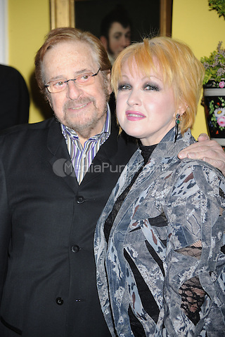 Phil Ramone and Cyndi Lauper attend the New York Chapter GRAMMY nominee reception hosted by Mayor Michael Bloomberg at Gracie Mansion on January 20, 2011 in New York City. Credit: Dennis Van Tine/MediaPunch