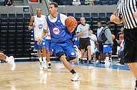 Cory Joseph handles the ball during the 1st day of the 2009 NBPA Top 100 Basketball Camp held Friday June 18, 2009 in Charlottesville, VA. Photo/ Andrew Shurtleff
