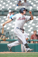 Binghamton Mets outfielder Darrell Ceciliani (10) during game against the Trenton Thunder at ARM & HAMMER Park on July 27, 2014 in Trenton, NJ.  Trenton defeated Binghamton 7-3.  (Tomasso DeRosa/Four Seam Images)