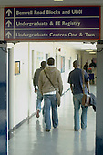 London Metropolitan University, Graduate Centre.  Students going to lectures.